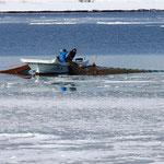 冬の漁(石狩市)