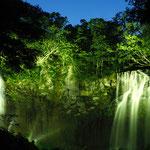 ライトアップされるアシリベツの滝【札幌市】