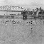石狩大橋近辺の川遊び
