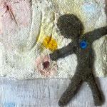 petit homme au coeur d'azur, 13,5 x 13,5 cm, vendu