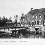 Draaibrug aan de Hoogstraat tot 1932/33 verbreding kanaal