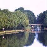 Brug over oude kanaal in Voorshoven jaren zeventig