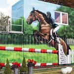 Pferdehof  Container mit Graffiti