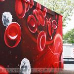 Blutspende Zentrum Berlin Graffitikünstler