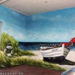 Restaurant Zings Wandmalerei Ostsee