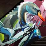 Bahnhof Gestaltung mit Graffiti Malerei