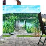 Garage Wandmalerei