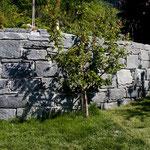 Natursteinmauer mit Calancagneis