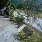 Lusernagneisplatten aus dem Piemont i Bahnen