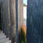 Sichtschutzsteelen Schiefer anthrazit