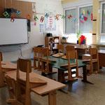 einer von zwei Klassenräumen
