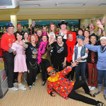 Karnevalsbowling im Level Club 2014