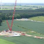 Repowering - Windpark Tempelfelde Standort TR 04 Aufbau Hauptkran für Hauptmontage