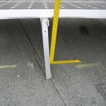Schiefstellung von Winkelkonstruktion zur Aufnahme der Befestigungsschienen