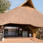 Botoka渓谷を見下ろす位置にあるジンバブエ側にあるレストラン