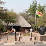 ヴィクトリアファルズ国立公園のジンバブエ側の入口