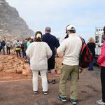 喜望峰の標識での写真撮影の行列