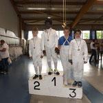 Noa Champion de Moselle épée pupille 2016, théo vice-champion et hugo 3ème