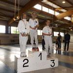 Camille vainqueur de la coupe de Moselle 2016, Manom 2ème et Emeline 3ème