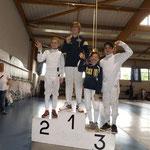 Guillaume vice-champion de Moselle épée benjamin 2016