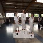 Manom Championne de Moselle épée pupille 2016, Camille vice-championne et Emeline 3ème