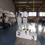 Noa Vainqueur de la coupe de Moselle 2016, thibault 3ème épée pupille