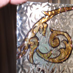 silver stained patterned designs