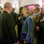 Marianne Menze im Gespräch mit OB Reinhard Paß