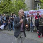Jürgen Zierus (Linke) setzt sich leidenschaftlich für den Erhalt des Hauses ein.