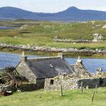 Unser Haus in Lochmaddy - North Uist (Äußere Hebriden)