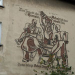Fassadenrelief an ehemaligen Krupp-Haus in Essen-Holsterhausen