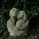 Skulptur von Herbert Lungwitz im Garten des Atelierhauses, 2007-06