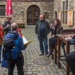 Führung durch Hattingen, Schloss Kemnade, April 2014