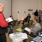 Bertha von Suttner-Preis Jury im Atelierhaus Alte Schule, Januar 2009