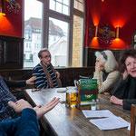2014-01: Nach dem Besuch der Julia Stoschek Collection im Alten Bahnhof in D.-Oberkassel