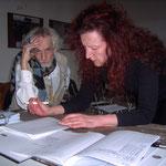 Vereinssitzung 2005, Erhard Becker und Doris Schöttler-Boll