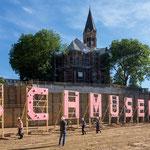 """Christoph Hildebrand *1959, """"Schmusen"""" (temporär bis September 2014), nördliche Innenstadt Essen"""