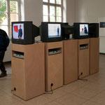 """Videoinstallation """"vis à vis"""" von Jürgen Paas, Kunstspur, September 2010"""