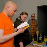 """Büchertisch der Veranstaltung """"Fragment als Haltung"""" Vortrag und Lesung von Angelika Janz, Juni 2010"""