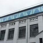 Wohnbereich von Julia Stoschek auf dem Dach des Gebäudes