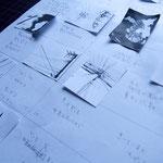 写真に対して文を考え。鉛筆作業からいつも始まります。