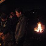 ein wärmendes Feuer für tiefere Temperaturen