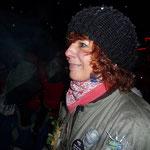 Schindellegi, 19.00 Uhr - Schneetreiben und Kälte, aber die Frisur hält!