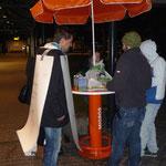 erste Begegnung am Abendverkauf im Säntispark