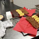 Eine kleine Auswahl des Kuchenbuffets