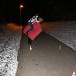 Picabo ist immernoch oben und der Slalom in die eine Richtung ist auch schon geschafft.