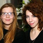 Куратор выставки Анастасия Пацей (справа)