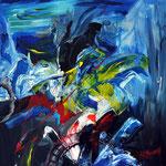 Blaue Kraft - 50 x 70 cm - 2012