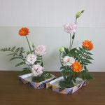 Maiさんの作品です。ガーベラやトルコギキョウのお花もなんだか楽しそうだね。