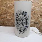lampe abat-jour tissu cylindrique a poser ø20 hauteur 50 cm